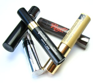 Lancome Hypnose Doll Eyes, Chanel Inimitable, Dior Iconic Overcurl, Estee Lauder Sumptuous Extreme, Benefit They're Real