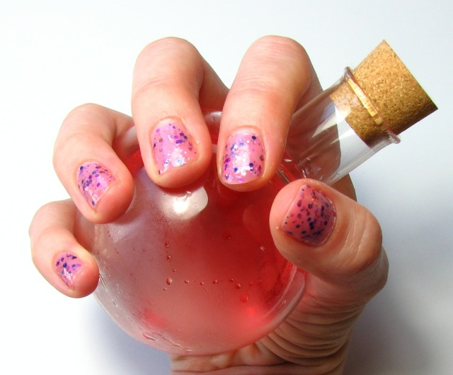 A girl can never have too many pink helath potions. Also pretty glitter nail polishes.