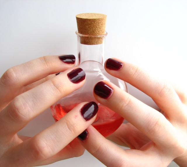 Oooh...shiny. Purple polish and a potion of prescience. What more could you want?