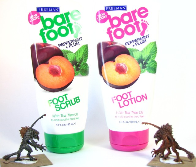 Foot Lotion and Scrub