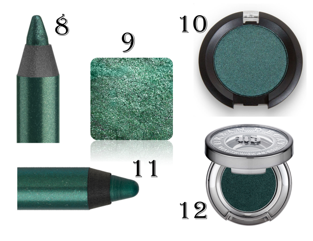 Green eyeshadows