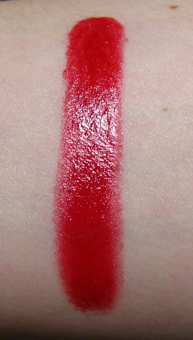 Estee Lauder Rich Red Lipstick swatch
