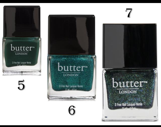 Emerald Green nail polishes