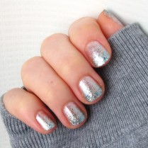Frozen Glitter Gradient Mani China Glaze Lorelei's Tiara and OPI Happy Anniversary