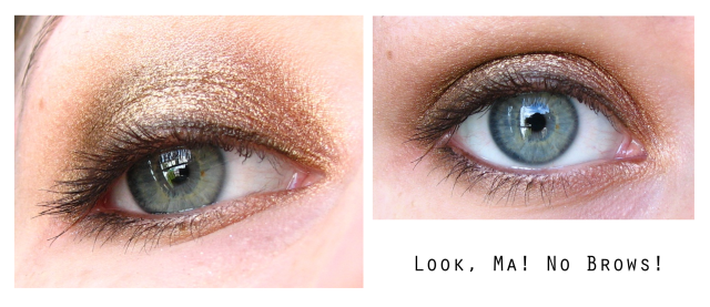 Golden ANZAC biscuit eye makeup look
