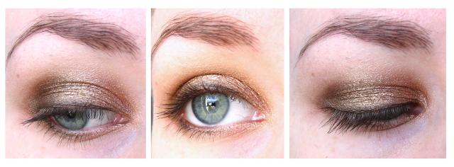 Golden ANZAC biscuit eye makeup look