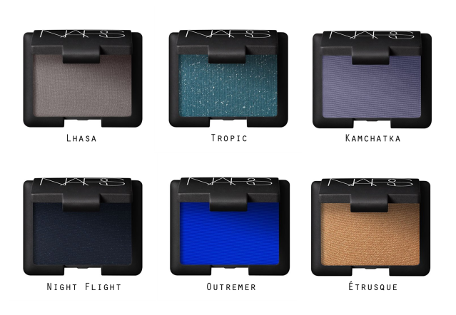 April Wishlist: NARS Eyeshadows in Lhasa, Kamchatka, Tropic, Outremer, Night Flight and Etrusque.