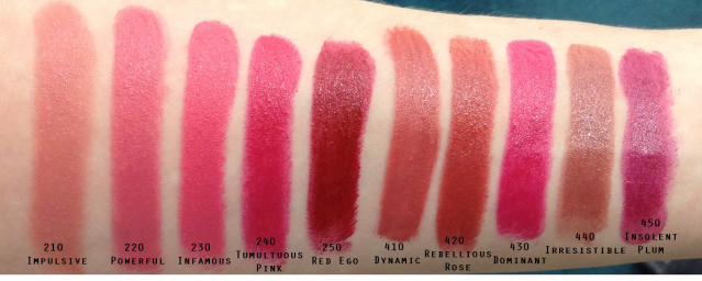 Estee Lauder Pure Color Envy Sculpting Lipsticks Full Swatches