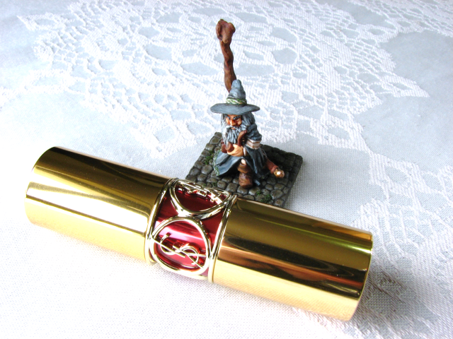 YSL Rouge Volupte Shine #17 Rose in Tension lipstick swatches review