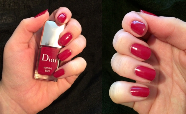 Dior Fall 2014 Vernis and Dior Rouge Baume Vernis full swatches and review of 853 Massai