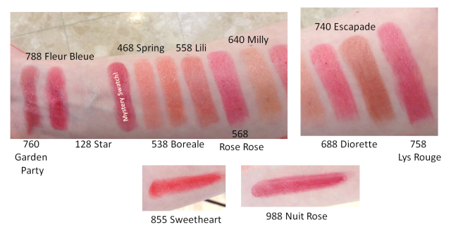 Rouge Dior Baume lipsticks all swatches NZ warm artificial light