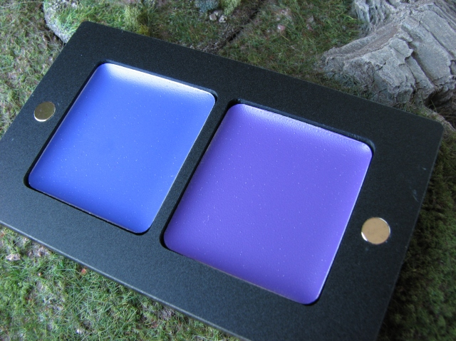 INGLOT purple and blue lipsticks #99 and #95 review and swatches