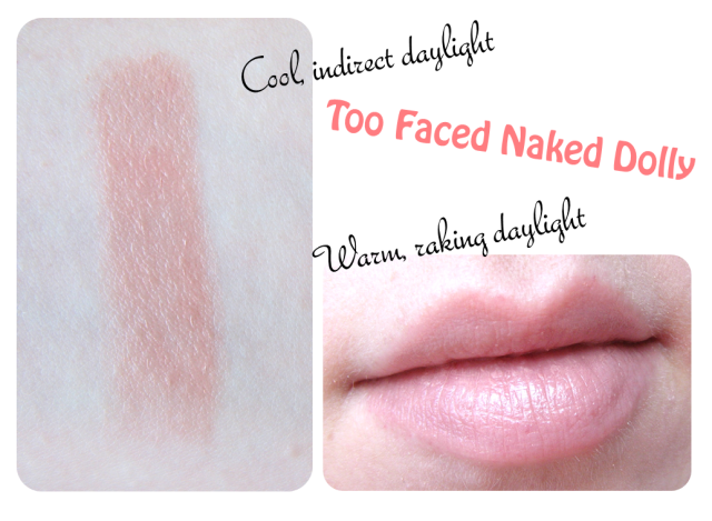 Too Faced Naked Dolly Review and Lip Swatches