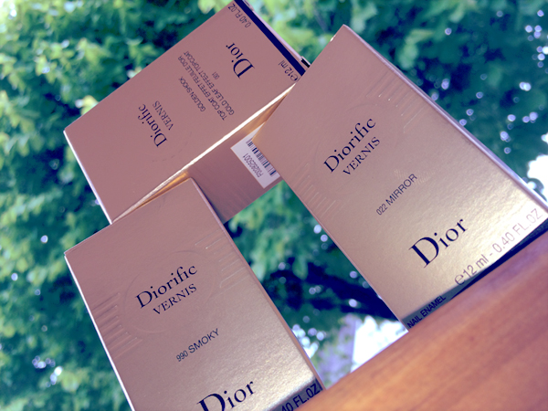 Dior Vernis Holiday 2014 Golden Shock Mirror Smoky Review and Swatches